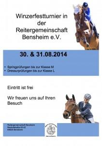 Winzerfestturnier Plakat 14-2